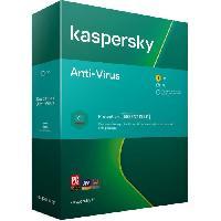 Logiciels KASPERSKY Antivirus 2020. 1 poste. 1 an