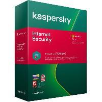 Logiciels KASPERSKY Internet Security 2020. 3 postes. 1 an