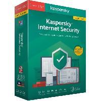Logiciels KASPERSKY Internet Security 2020 Mise a jour. 1 poste. 1 an