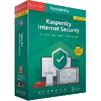 Logiciels KASPERSKY Internet Security 2020 Mise a jour. 3 postes. 1 an