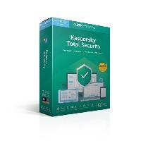 Logiciels KASPERSKY Total Security 2019. 5 postes. 1 an