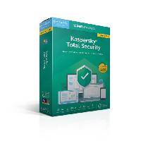 Logiciels KASPERSKY Total Security 2019 mise a jour. 5 postes. 1 an
