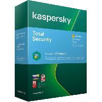 Logiciels KASPERSKY Total Security 2020. 5 postes. 1 an