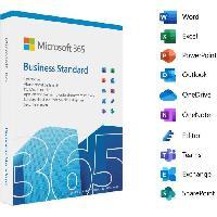 Logiciels MICROSOFT 365 Business Standard - 1 utilisateur - PC ou Mac - Abonnement 1 an