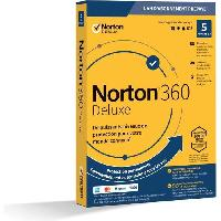 Logiciels NORTON 360 Deluxe 50 Go FR 1 Utilisateur 5 Appareils - 12 Mo STD RET ENR MM