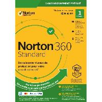 Logiciels NORTON 360 Standard 10 Go FR 1 Utilisateur 1 Appareil - 12 Mo STD RET ENR MM