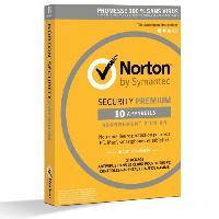 Logiciels NORTON SECURITY 2018 PREMIUM 10 Apps - Norton By Symantec
