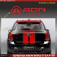 Logo - Sponsors Autocollant ADNAuto - Logo horizontal - Rouge - 11.5cm - ADNLifestyle