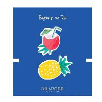 Loisirs Creatifs - Beaux Arts - Papeterie 2 Broches Coco et Ananas brodees
