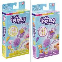 Loisirs Creatifs - Beaux Arts - Papeterie BANDAI Pretty Pixels - Krazy Pixels - Fabrique a gommes - Mini coffret - Modele aléatoire