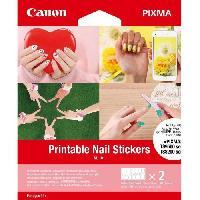 Loisirs Creatifs - Beaux Arts - Papeterie CANON Autocollants pour ongles imprimables NL-101 24 autocollants