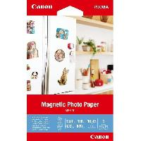 Loisirs Creatifs - Beaux Arts - Papeterie CANON Papier Photo magnétique 10x15cm MG-101 670gr 5 feuilles
