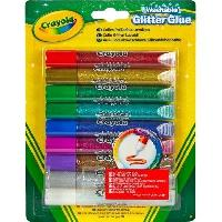 Loisirs Creatifs - Beaux Arts - Papeterie Crayola - 9 Colles pailletées lavables -