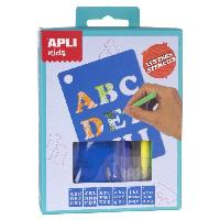 Loisirs Creatifs Et Activites Manuelles APLI Mini kit pochoirs lettres