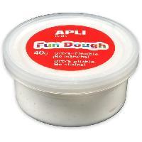 Loisirs Creatifs Et Activites Manuelles APLI Pâte a modeler Fun Dough - 40 g - Blanc
