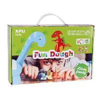 Loisirs Creatifs Et Activites Manuelles APLI Pâte a modeler dinosaures en Fun Dough - 6 pots - 28 g