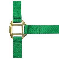 Longe - Licol Licol nylon double cuirpur-sang - Vert clair
