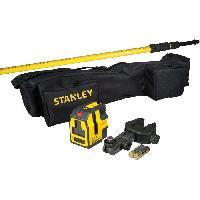 Longueur (telemetre - Laser Mesureur) STANLEY- KIT Niveau laser croix + equerage- STHT1-77147