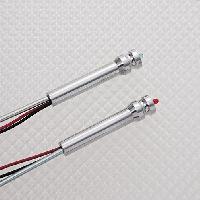 Loquets de porte 2 loquets argent a LED rouge compatible avec Super5Twingo I - Richbrook
