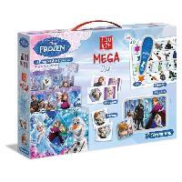 Loto - Bingo CLEMENTONI Mega Edukit 7 en 1 - La Reine des Neiges - 3 Puzzles. Domino. Memo. 6 Cubes et Quizzy