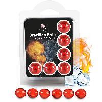 Lubrifiants Boules Bresiliennes Effet Chaud - Froid X6