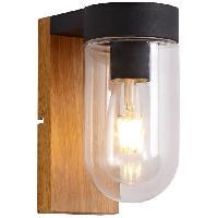 Luminaire D'exterieur Applique exterieure CABAR Bois et noir ampoule E27 max 40W - Brilliant
