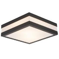 Luminaire D'exterieur Applique exterieure MATTEO Gris charbon/blanc ampoule E27 max 11 W - Brilliant