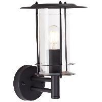 Luminaire D'exterieur Applique exterieure YORK Noir depoli ampoule E27 max 40 W - Brilliant