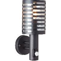 Luminaire D'exterieur Applique exterieure avec détecteur VENLO Noire ampoule E27 max 40W - Brilliant