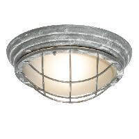 Luminaire D'exterieur Applique murale exterieure OLENA Béton gris ampoule E27 max 46 W - Brilliant