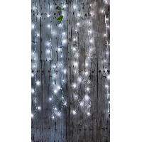 Luminaire D'exterieur BLACHERE Rideau Flicker 96 LED Blanc pur - L 2 x H 2 m - Connectable 3 fois - Câble blanc 12V - Blachere Illumination