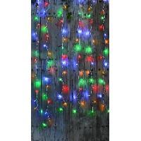 Luminaire D'exterieur BLACHERE Rideau Flicker 96 LED Multicolore - L 2 x H 2 m - Connectable 3 fois - Câble blanc 12V - Blachere Illumination