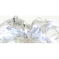 Luminaire D'exterieur BLACHERE Rideaux Flicker 96 LED Blanc auto-flash - L 2 x H 2 m - Connectable 3 fois - Câble Argent 24V - Blachere Illumination