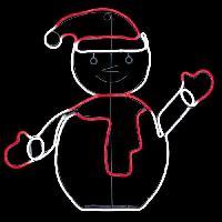 Luminaire D'exterieur FEERIC LIGHTS & CHRISTMAS Forme tube Bonhomme de neige - L 50 cm