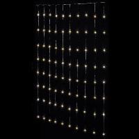 Luminaire D'exterieur FEERIC LIGHTS & CHRISTMAS Rideau façade Copper - 400 LED - Blanc - 2m