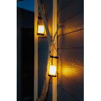Luminaire D'exterieur GALIX Lanterne solaire métal avec corde - Bougie LED