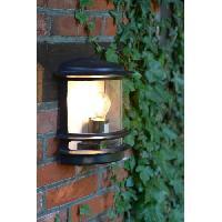 Luminaire D'exterieur HOLLYWOOD-Applique d'extérieur avec capteur H25cm Noir Brilliant