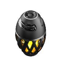 Luminaire D'exterieur LEXIBOOK Decotech Enceinte Bluetooth Stéréo effet Flamme LED. usage intérieur et extérieur