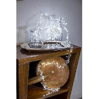 Luminaire D'exterieur LOTTI Guirlande lumineuse grappe - 600 micro-LED MiniCluster Ø5 cm - Blanc froid - 5 m