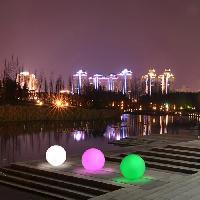 Luminaire D'exterieur LUMISKY Sphere Led sans fil télécommandable 30 cm - Multicolore