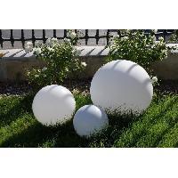 Luminaire D'exterieur LUMISKY Sphere lumineuse E27 sur secteur 60 cm - Blanc - Batimex