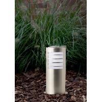 Luminaire D'exterieur TODD-Borne d'extérieur H40cm Argent Brilliant