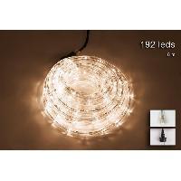 Luminaire D'exterieur Tube lumineux exterieur - 192 LED blanc chaud - 8 m - Connectable - 24 flashs crepitant Christmas Dream