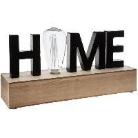Luminaire D'interieur ATMOSPHERA Mot Déco LED Home L34 cm - Noir
