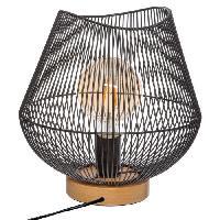 Luminaire D'interieur Lampe a poser filaire en métal - H 28 cm - Noir