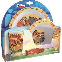 Lunch Box - Boite A Repas Disney Roi Lion Ensemble lunch - Assiette - Verre - Bol