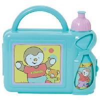 Lunch Box - Boite A Repas Fun House T'choupiensemble gouter compenant 1 gourde et 1 boîte goûterpour enfant