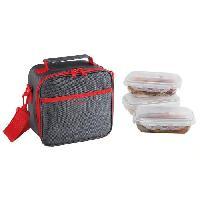 Lunch Box - Boite A Repas SEP122R Set Sacoche Lunch box - Rouge