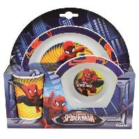 Lunch Box - Boite A Repas Spiderman Ensemble lunch - Assiette - Verre - Bol