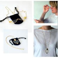 Lunettes Collier lunettes loupe VITAEASY - Chaine forme sautoir avec fermoir. longueur 75 cm - Dioptrie +2